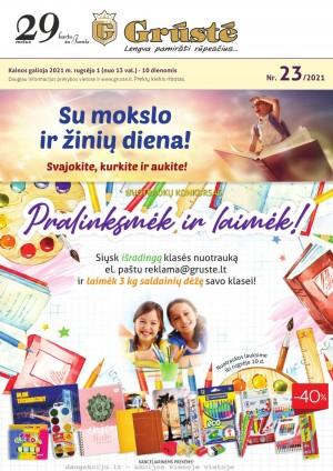 GRŪSTĖ - Leidinys Nr.23 (2021 09 01 - 2021 09 10)